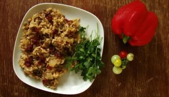 Soczewica z suszonymi pomidorami