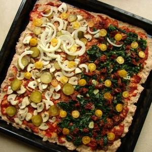 Dobra pizza nie jest za  weganizm szpinak