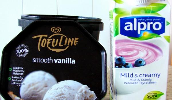 Wegańskie lody i jogurt