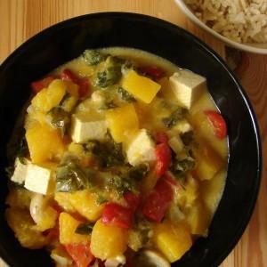 Curry z dyni tofu jarmuem i papryk Pysznoci  weganizm