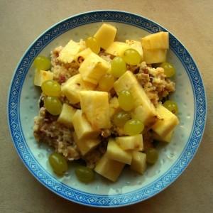 owocowy pocztek tygodnia  weganizm ananas kaszajaglana