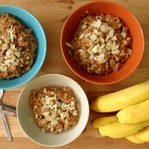 Dzisiejsze śniadanie - owsianka z marchewką