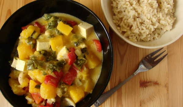 curry z tofu