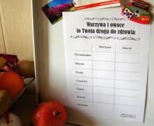 Jedz warzywa i owoce - darmowe plansze motywacyjne dla dzieci i dorosłych