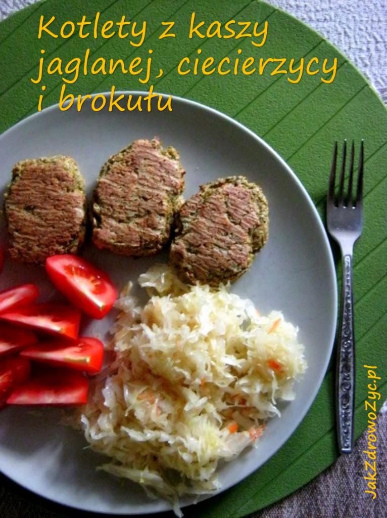 Kotlety z kaszy jaglanej, ciecierzycy i brokułu