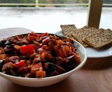 Gulasz z bakłażana i papryki