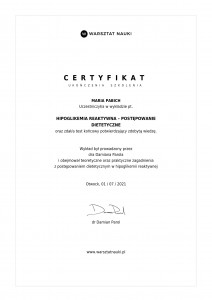Certyfikat_hipoglikemia