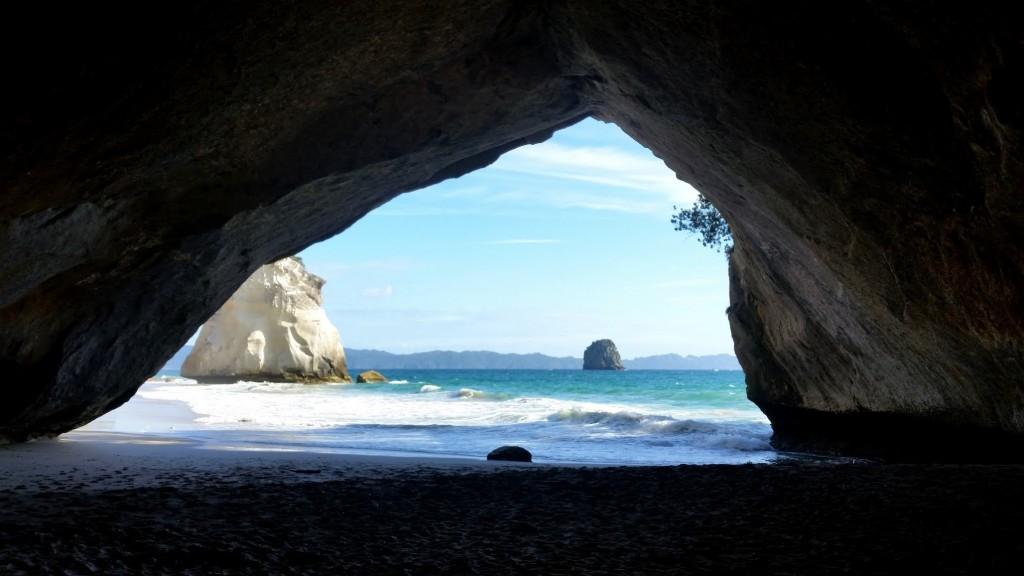 A to właśnie sławne Cathedral Cove.