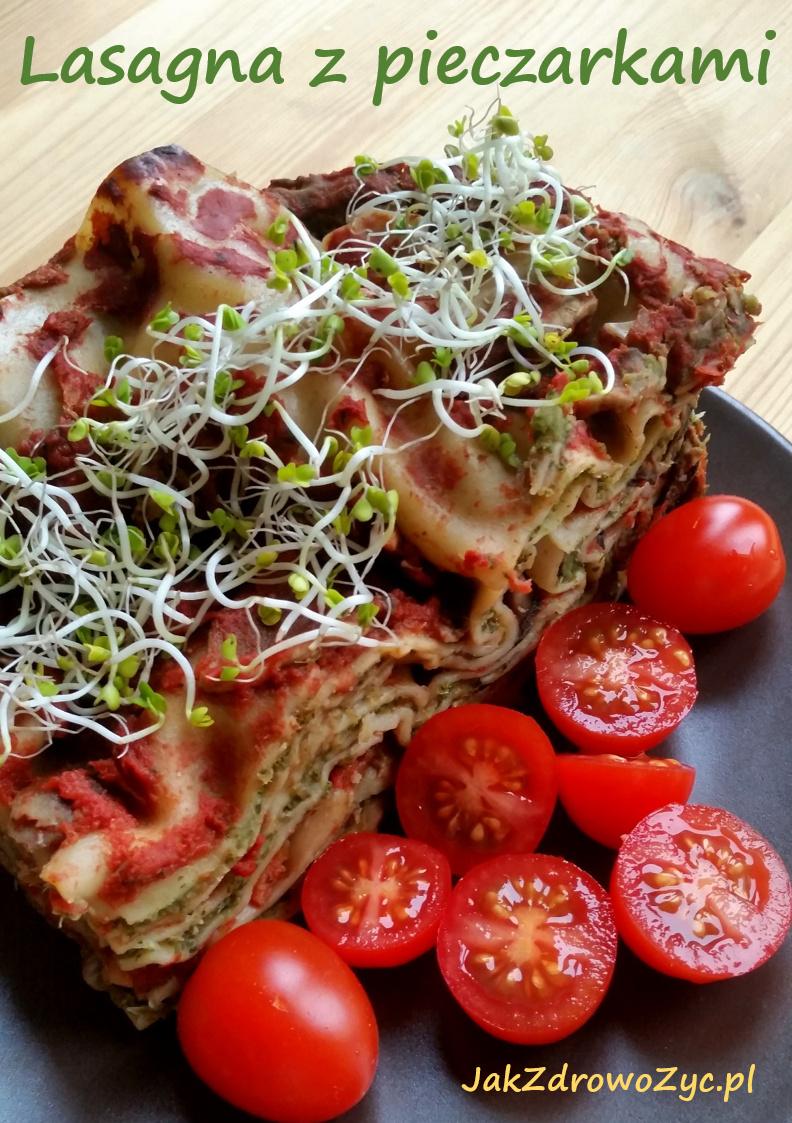 lasagna z pieczarkami