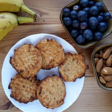Ciasteczka kokosanki bez cukru i jajek