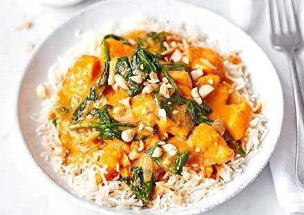 ryz curry z batatami