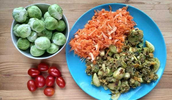 Szybki obiad - brukselka z soczewicą i natką pietruszki