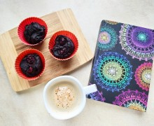 Czekoladowe muffinki z czerwonej fasoli i tofu