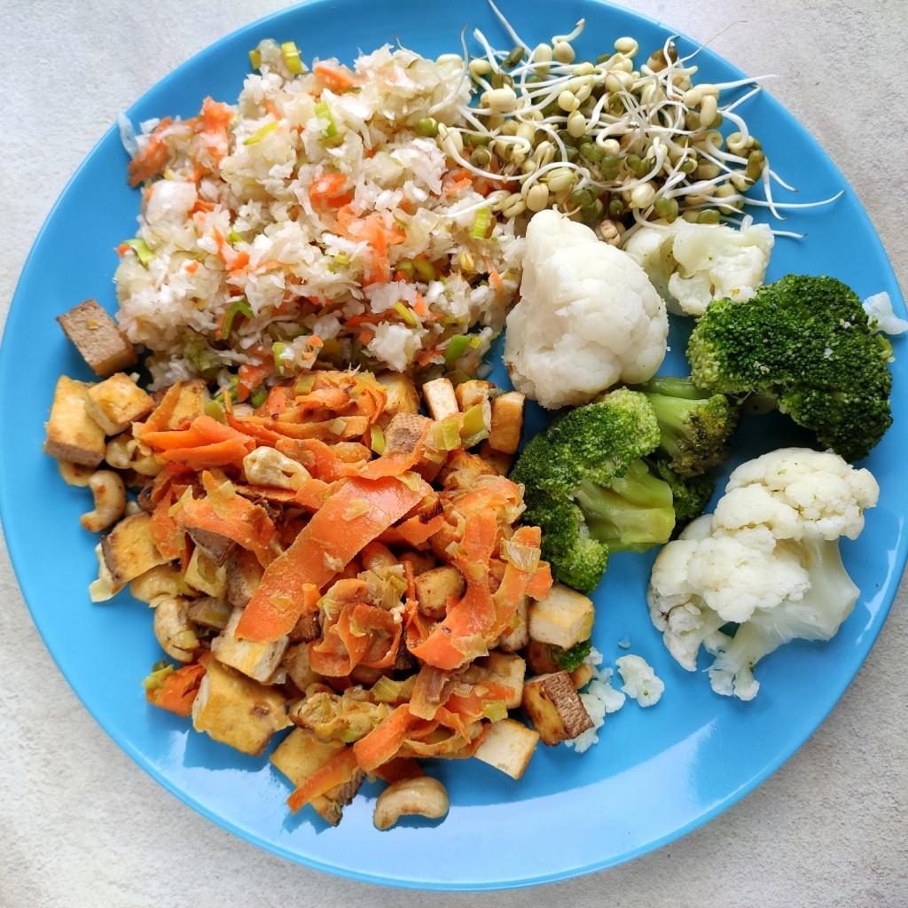 obiad z tofu