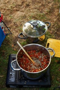 co jeść pod namiotem